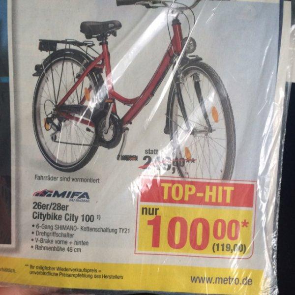 [METRO] MiFa Citybike City 100 Damenrad
