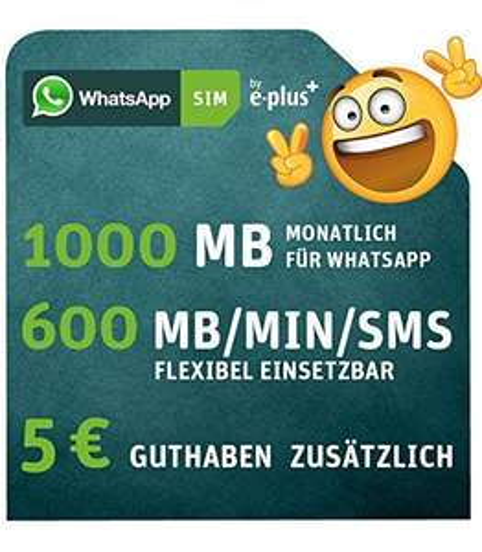 [Amazon] nur heute WhatsApp-SIM 4,44 €