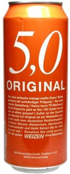 (lokal) Original 5,0 Weizenbier - 0,5 Liter Dose für 9 Cent