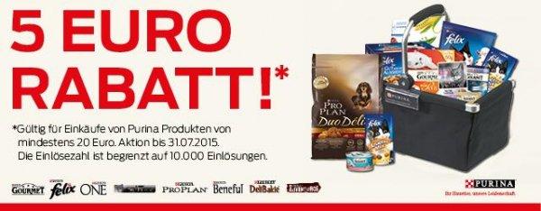 Neuer Tierfutterdeal, Purina Futter im Wert von 20€ kaufen und 5€ zurück (Coupies)