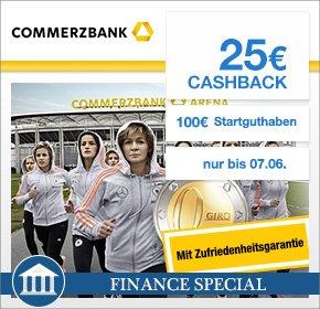 "[Qipu] 100€ Startguthaben + 25€ Cashback Commerzbank ""kostenloses"" Girokonto"