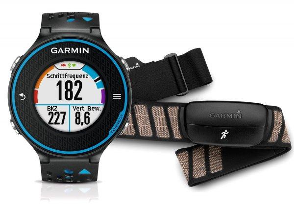 Garmin Laufuhr Forerunner 620 HRM inkl. HRM-Run Brustgurt, Schwarz/Blau für 264,92 € @Amazon.fr