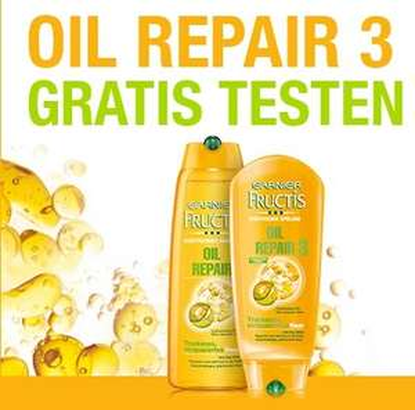 """[GzG] Garnier """"Fructis Oil Repair 3"""" - Shampoo & Spülung Gratis testen - Teilnahme per E-Mail"""