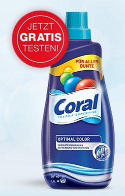 Coral Waschmittel Gratis testen !Bis 2l ! Durch Kassenbon einsenden