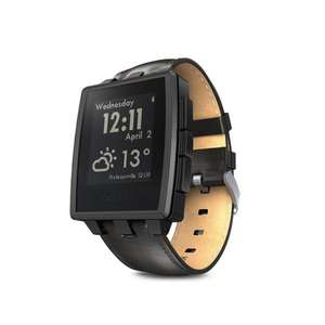 Pebble Steel Smart Watch matt schwarz @Amazon WHD für 139,13 €