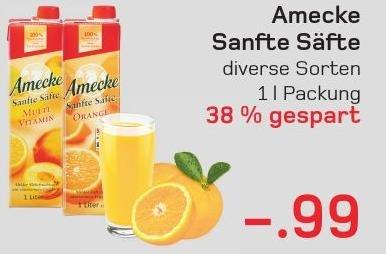 [Lokal Akzenta Wuppertal] Amecke Sanfte Säfte nur 0,99€ (REWE/Kaufpark Bundesweit?)