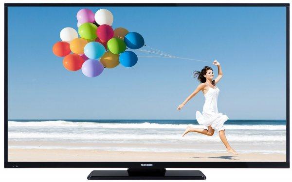 Amazon-Blitzangebot: Telefunken D49F283I3C 125 cm (49 Zoll) LED-Backlight Fernseher, EEK A+ (Full-HD, 600Hz CMP, DVB-C/T/S2, Smart TV, HbbTV, DLNA, CI+, 3x HDMI, 2x USB, Hotelmodus) schwarz @ 399,99 Euro