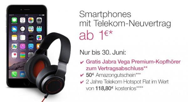 [Amazon] Gratis Jabra Vega Premium-Kopfhörer bei Abschluss eines Telekom-Neuvertrags