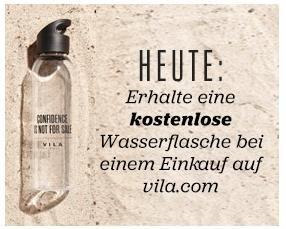 VILA: Erhalte eine kostenlose Wasserflasche gratis zu jedem Einkauf dazu, kein MBW, keine Versandkosten