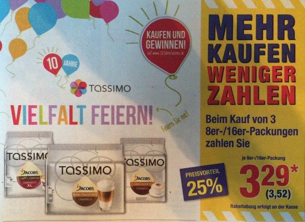 [Metro offline] 3x 8er-/16er-Packungen Tassimo verschiedene Sorten (3,52€/Packung)
