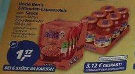 [REAL KW24] 6 x Uncle Ben's Express Reis oder Sauce für 1 € (Angebot + Coupons)
