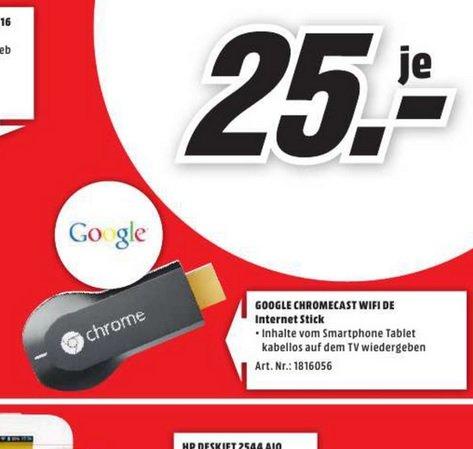 (lokal Herzogenrath)Google Chromecast für 25€ u.v.m! @ Mediamarkt