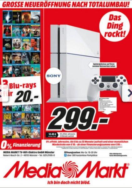 [Lokal MM Münster] Playstation 4 in Weiß 500 GB 299€