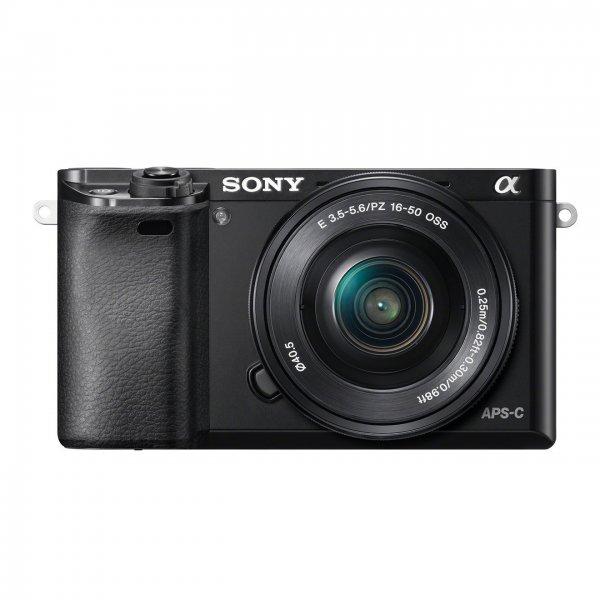 "Sony Alpha 6000 Systemkamera (24 Megapixel, 7,6 cm (3"") LCD-Display) inkl. SEL-P1650 Objektiv"
