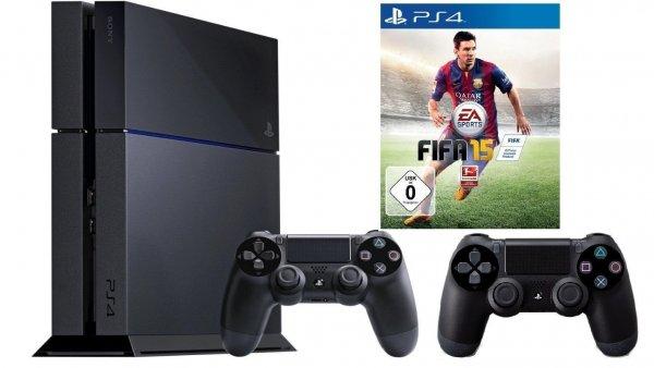 [eBay Saturn] PS4 (PlayStation 4) + 2. Controller + Fifa 15 für 359 € bei Zahlung mit Paypal