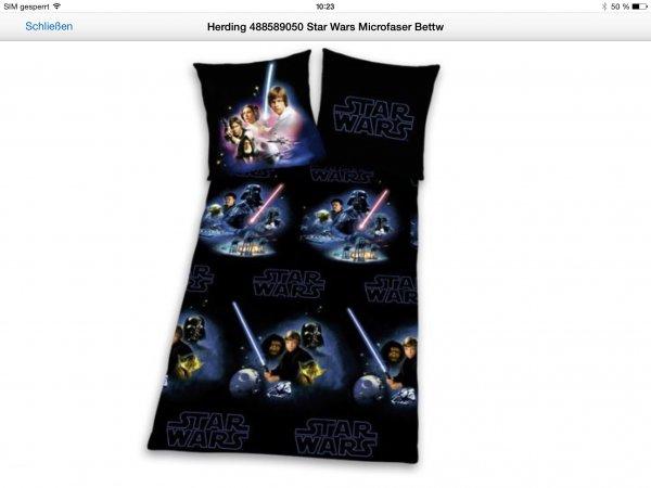 Star Wars Bettwäsche viele Modelle reduziert bei Amazon 13,50 (Prime)