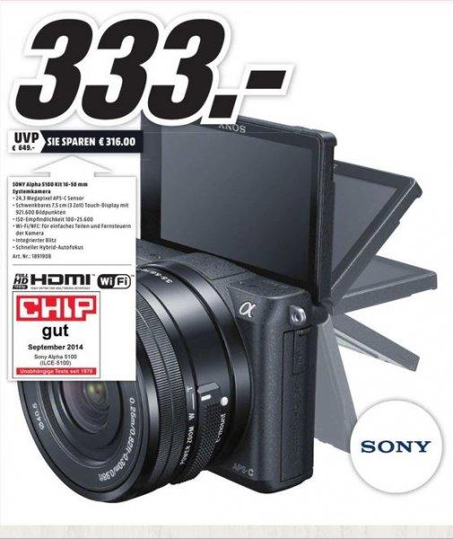 Sony Alpha 5100 Kit 16-50 mm lokal in Hamburg für 333,- Euro