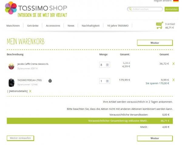 Tassimo Maschine gratis beim Kauf von 8 Packungen Tassimo @ Tassimo.de