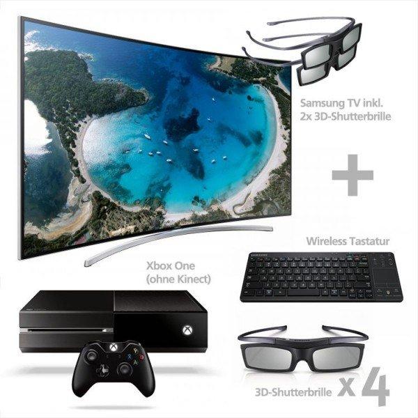Samsung UE65H8090 Curved TV + Xbox One + Wireless-Tastatur und 6x 3D-Brillen für 1899€ @ Comtech