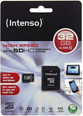 [@Ebay.de WoW]: Intenso 32GB Micro SDHC Speicherkarte Class 10 + SD SDHC Card Adapter inkl. Versand für 9,99€