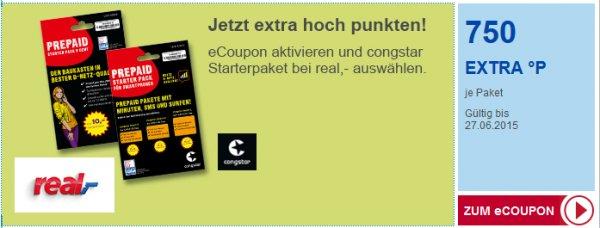 [Congstar & Payback bei Real] 750 Extrapunkte beim kauf eines Congstar Starter-Pakets