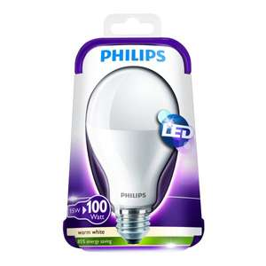 PHILIPS 15W (100W) LED Lampe E27 warmweiß für 9,99€ + VSK