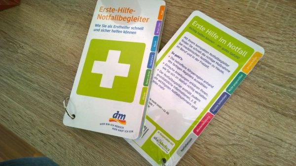 Erste Hilfe-Notfallbegleiter kostenlos im DM