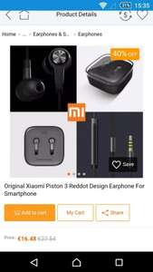 CN-Banggod Xiaomi Piston 3 Reddot - In Ear Earphones for Smartphone