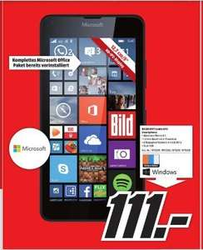 [Lokal-Mediamärkte Hamburg] Microsoft Lumia 640 Dual-SIM Smartphone 12.7 cm (5 Zoll) 1.2 GHz Quad Core 8 GB 8 Mio. Pixel Windows® Phone OS 8.1 für 111,-€