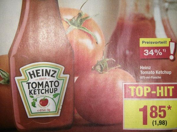 HEINZ Tomato Ketchup 875ml - METRO 1,98€ ab 11.06.
