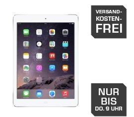 Saturn Late Night Shopping nur bis 09:00 Uhr. APPLE iPad Air Wifi 16GB in spacegrau oder silber 329€