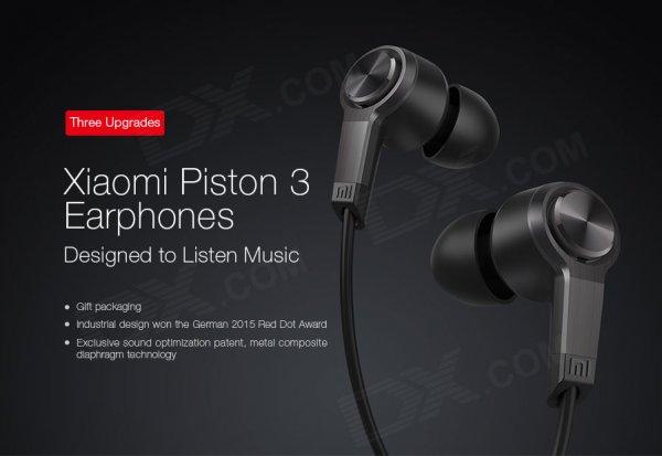 [China]  Bestpreis-Xiaomi Piston v3 Kopfhörer mit Fernbedienung - Reddot Design Award 2015