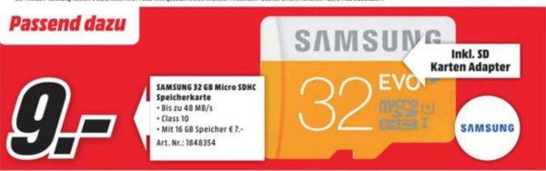 Samsung Memory 32GB EVO MicroSDHC Speicherkarte class 10 (9 Euro)  (lokal Essen) am Freitag 05.06