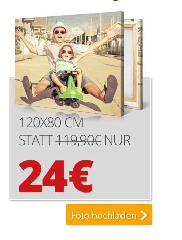 XXL Bildleinwand drucken lassen in 120x80 nach längerer Zeit mal wieder günstig 20-30% Ersparniss