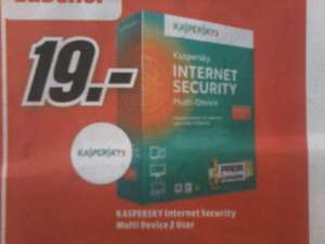 Kaspersky Internet Security Multi- device (2 user) Media Markt Dessau 19€
