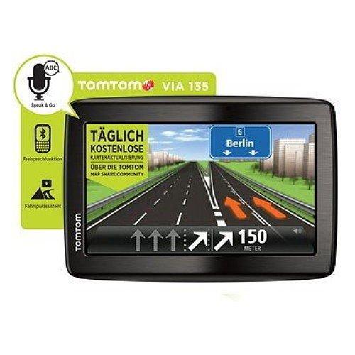 """TomTom Via 135 5"""" XXL NAVI Bluetooth Handy Freisprechen Europa 45 Länder WOWDEAL"""