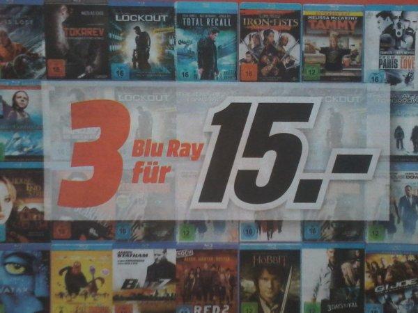 MEDIA MARKT 3 BLU RAY für 15 Euro        (regional)