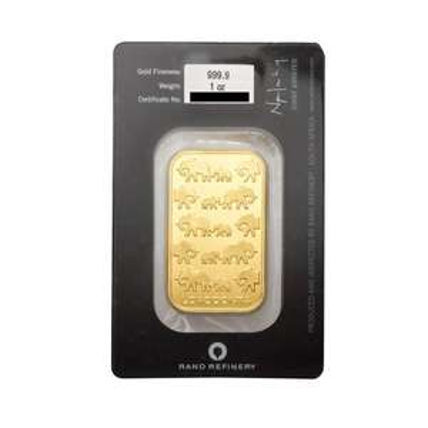 [eBay] 1 oz Goldbarren 999,9er Rand Refinery Südafrika zum aktuellen Kurspreis