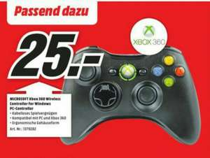 Microsoft Xbox 360 (Wireless) Controller for Windows & Konsole (lokal Kassel Media Markt)