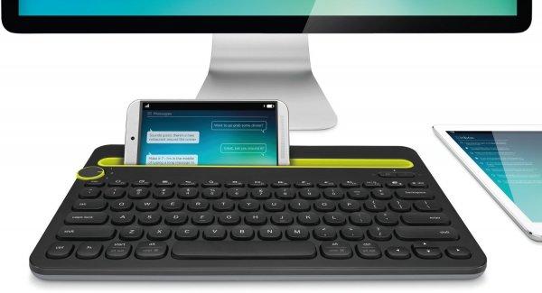 [Amazon-WHD]Logitech K480 kabellose Bluetooth-Tastatur für Computer, Tablet und Smartphone (QWERTZ) schwarz