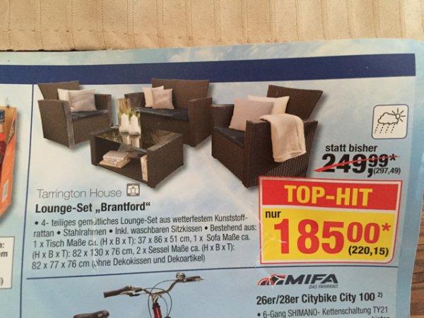 220€ Lounge Set Brantford Gartenmöbel statt 300€ bei METRO bundesweit