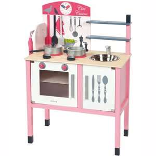 [Amazon-Prime] Janod J06533 - Maxi  Spiel Küche  aus Holz (mit Accessoires)