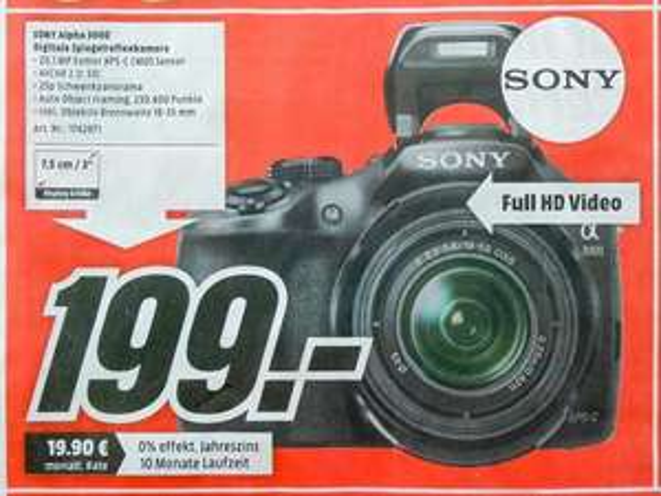 [Media Markt Saarbrücken Burbach] Sony Alpha 3000 für 199€