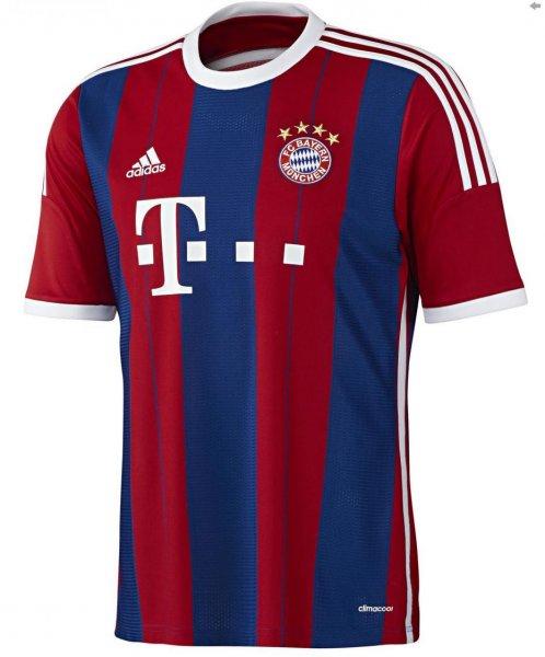 adidas FC Bayern München Home Trikot 2014/15 M 31,89 € & CL-Trikot für 32,89 €