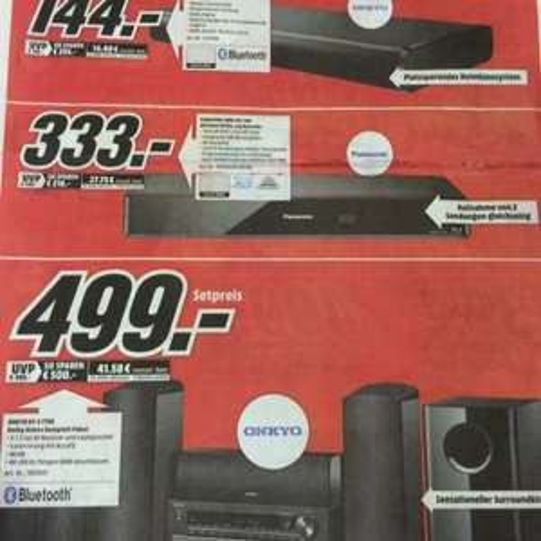 Onkyo HT-S 7705 Dolby Atmos Paket 499,- Media Markt Essen