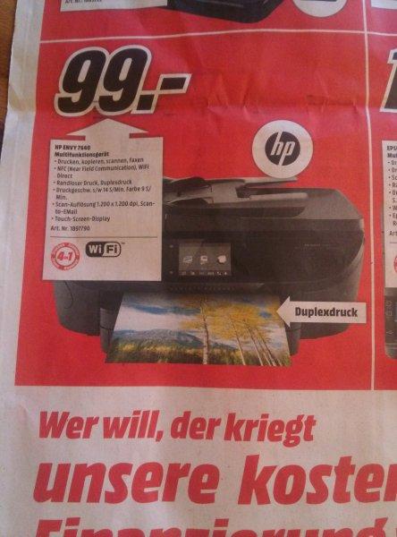 [Lokal] HP ENVY 7640 @ Media Markt Bruchsal 49€ (Cashback) statt 155€