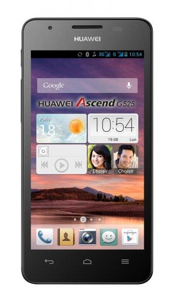 Huawei Ascend G525 Dual-SIM Smartphone (11,4 cm (4,5 Zoll) Display, 5 Megapixelkamera, 4 GB Interner Speicher, Android 4.1) schwarz @ Amazon WHD ab 50,08€