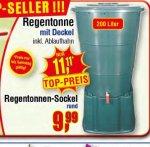[Centershop] Regentonne 200l mit Deckel und Ablaufhahn 11,11€