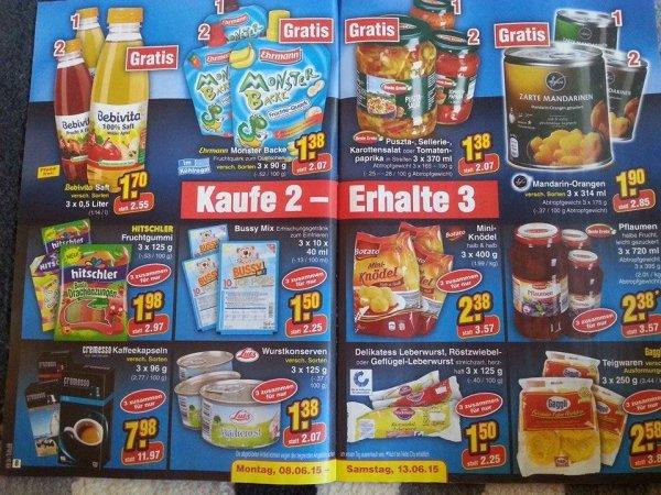 [Netto-Offline] Kaufe 2 - Erhalte 3 Aktion - ausgewählte Lebensmittel