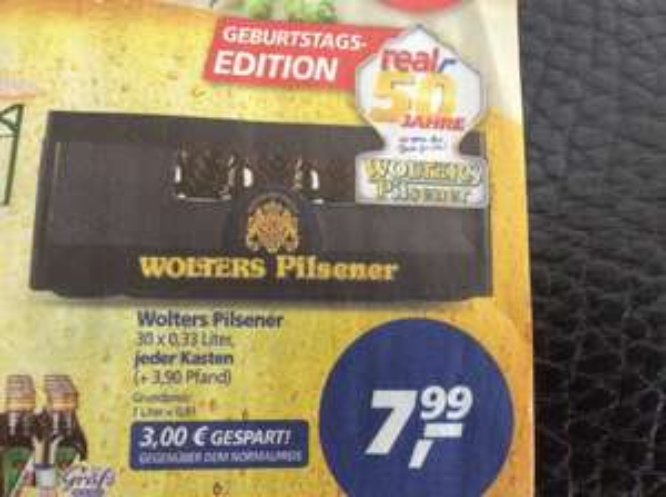 real BS Bierfestival Becks für 0,98 EUR/L und Wolters 7,99 EUR 30er